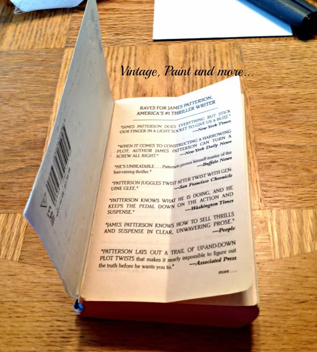 Book Page Note Holder - image of open paper back book