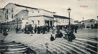 Old postcrd, port of Livorno in 1901