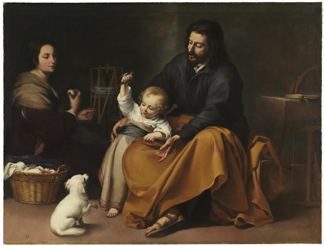 Bartolomé E. Murillo - Sagrada Familia del pajarito - 1650