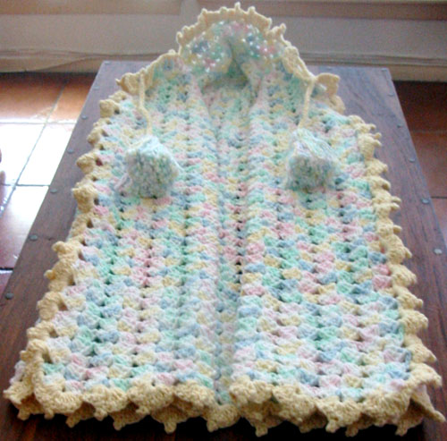 Crocheted Baby Snuggle - Free Pattern
