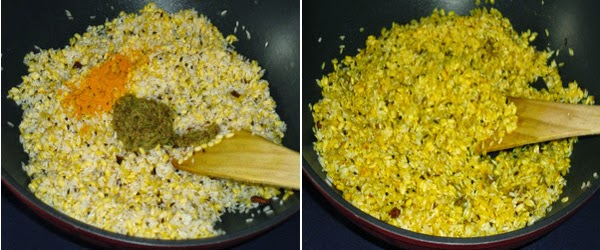 masala paste, turmeric added
