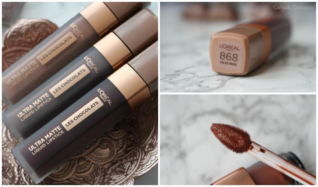 Safiyah Tasneem Sunday Swatches Loreal Paris Les Chocolats