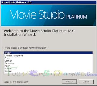 SONY Vegas Movie Studio Platinum 13.0 Build 960 Full Version
