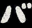 カタカナのペンキ文字「バ」