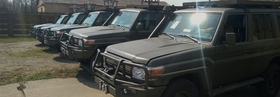 Toyota Land Cruisers of Ukraine army