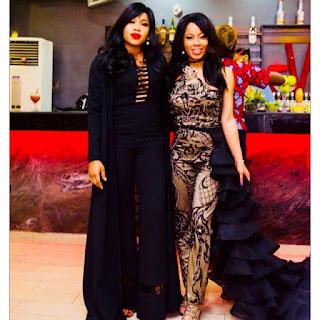 Toyin Lawani and Nina
