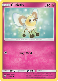 Cutiefly Burning Shadows Pokemon Card