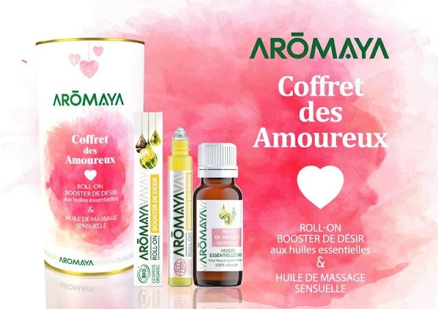 Coffret des amoureux, aromathérapie Aromaya, Pharmacie Lafayette - Blog beauté