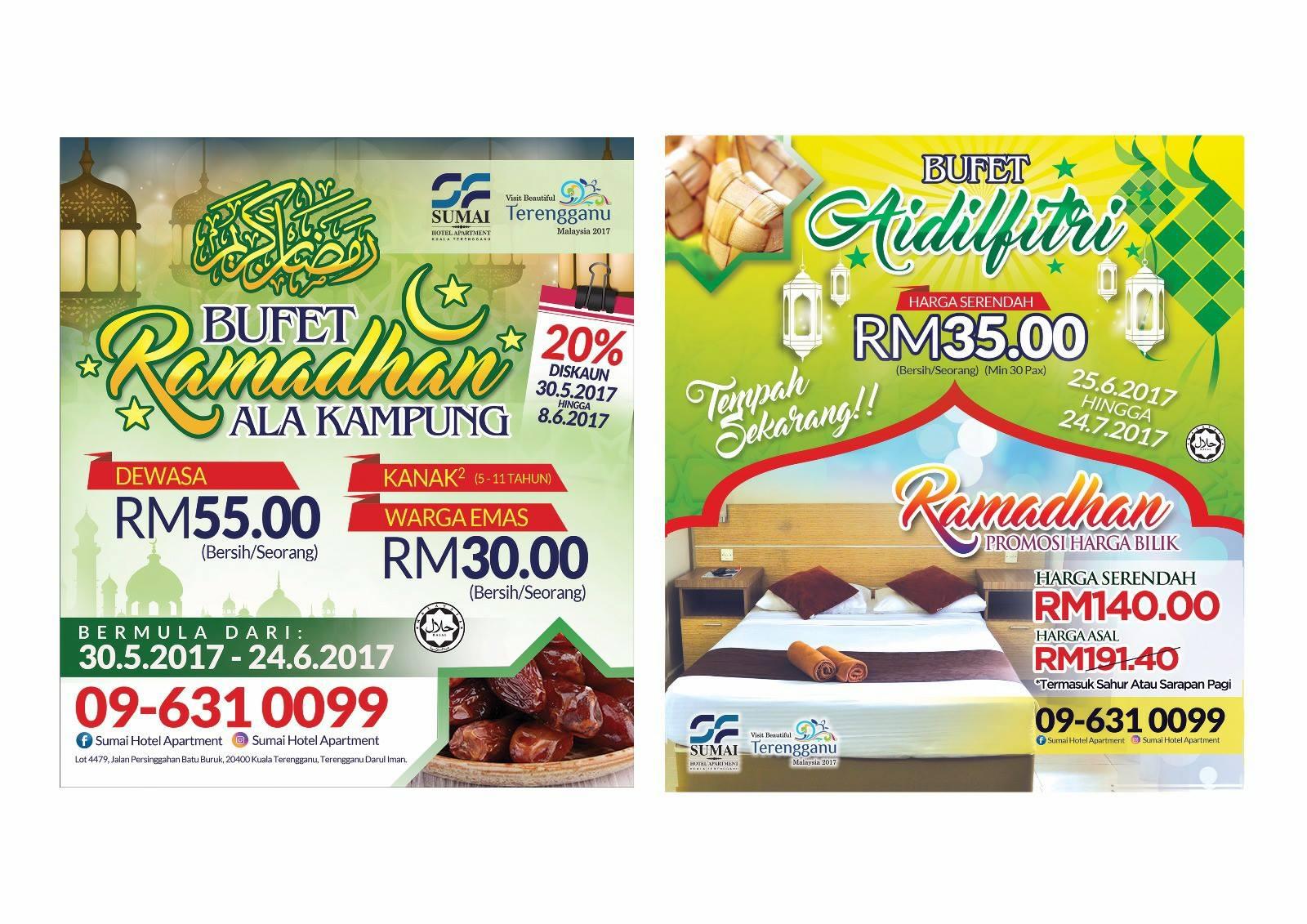 buffet ramadhan sumai hotel apartment terengganu