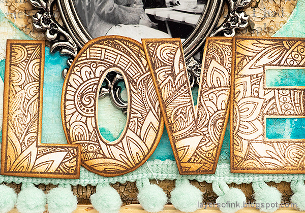 Layers of ink - Mixed Media Heart Windows Tutorial by Anna-Karin Evaldsson. With SSS Ornate Love.