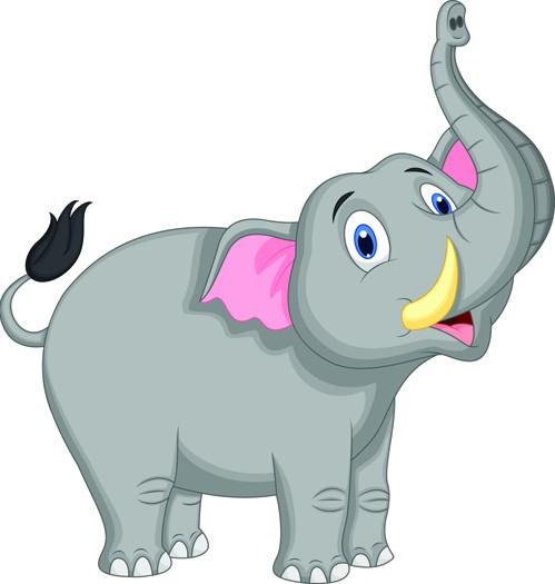 70+ Gambar Hewan Gajah Kartun HD Terbaik