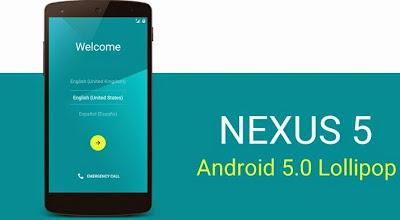 Smarphone Nexus Mulai Dapatkan Update Android 5.0 Lollipop