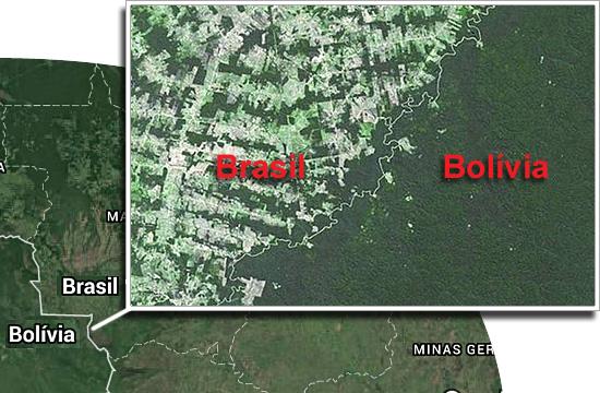 Fronteiras pelo mundo - Brasil e Bolívia