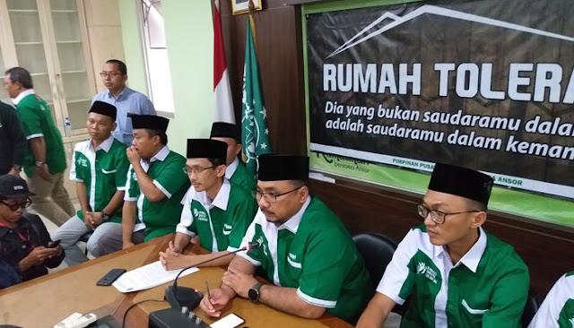 15 Poin Pernyataan Resmi GP Ansor Soal Pembakaran Bendera Bertuliskan Kalimat Tauhid