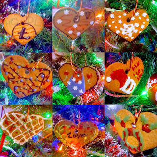 Decorated Christmas Gingerbread Stars