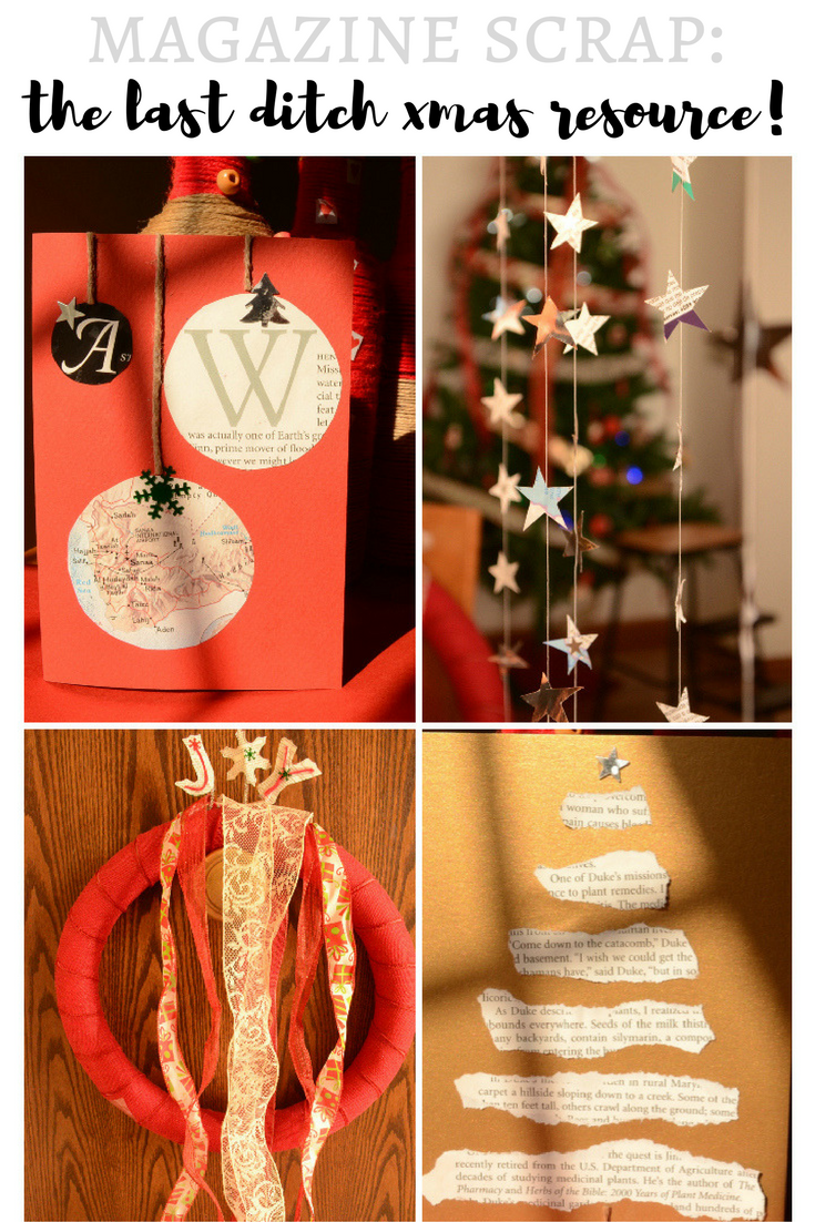 Practical Mom: Magazine Scrap: The Last Ditch Christmas Resource!  And what not to do with your Pool Noodle Wreath!