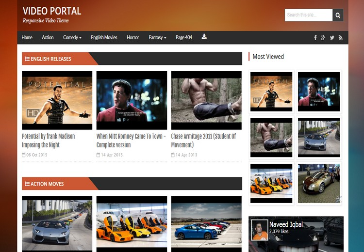 Video Portal - Responsive Video Blogger Template - Video Blogging