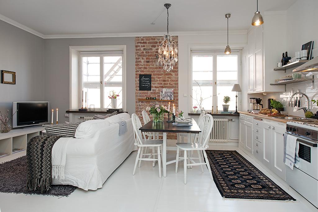 Una pizca de hogar 35 metros de aciertos decorativos for Decorar un salon de 40 metros cuadrados