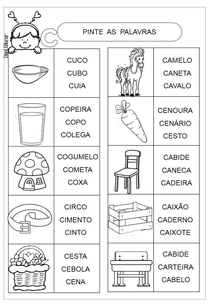DANI EDUCAR: Atividades letra C Prática de leitura