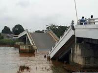 Jembatan Senilai Rp 17 M di Kalsel yang Patah