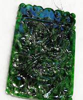 shiny imperial jade pendant