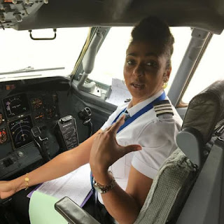 Meet The Beautiful Nigerian Female Pilot Who Is Also Married To A Pilot