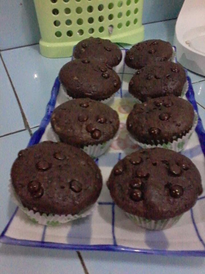 Resep Muffin Coklat Chip Lembut Panggang Sederhana
