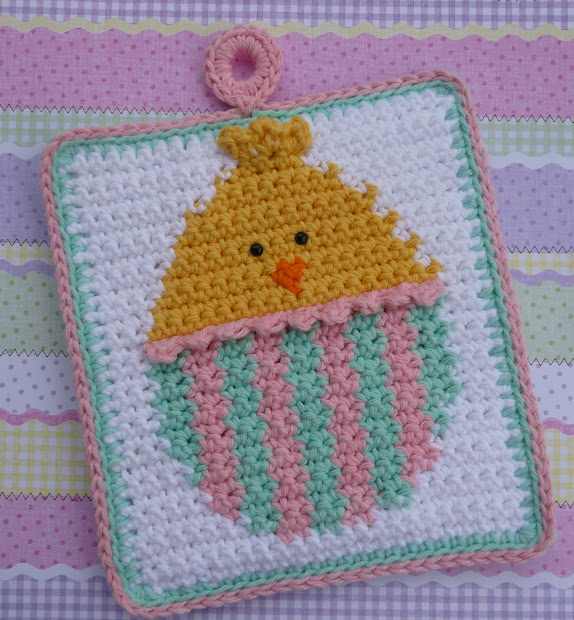 Crochet Chicken Potholder Pattern Patterns