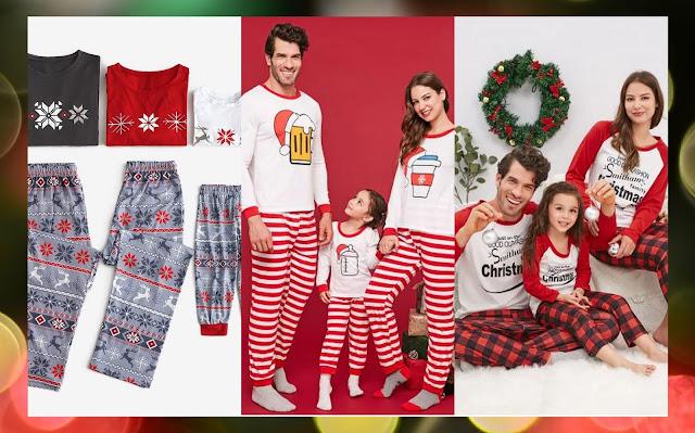 rosegal swiateczne Rodzinne Piżamy
