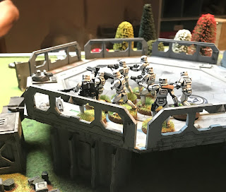 Stormtroopers threaten the Rebel flank