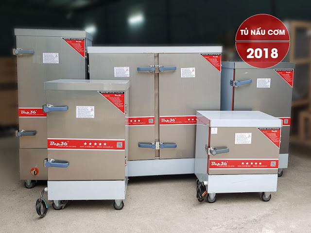 Các loại tủ nấu cơm công nghiệp thế hệ 2018 tại Bep36