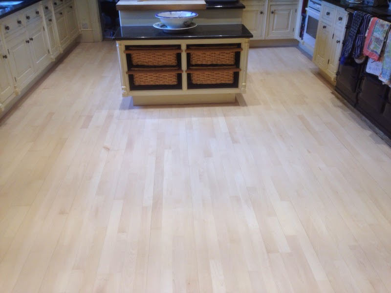 Maple Floor Sanded And White Oil Finish Applied Art Of Clean
