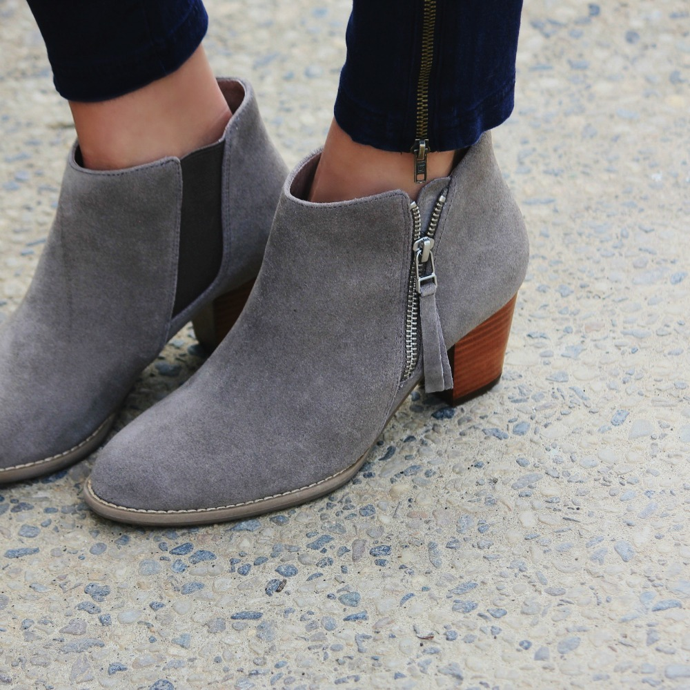 Vionic ankle booties that your feet and friends will for Hardwood floors hurt feet