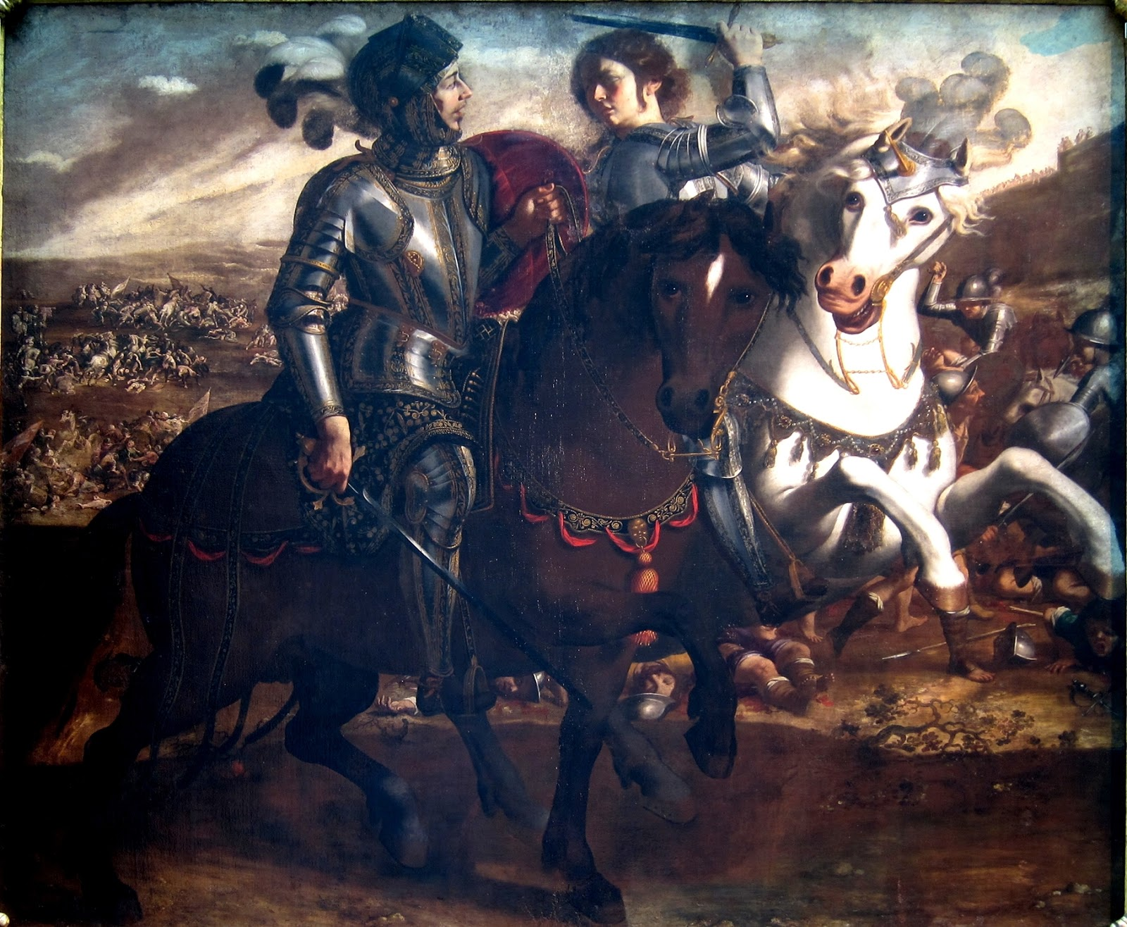 FALLEN TANCRED PRINCE OF GALILEE /& ERMINIA PAINTING 1ST CRUSADE ART CANVASPRINT