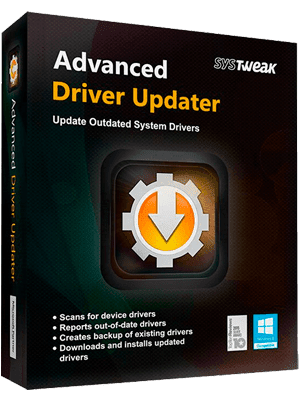 SysTweak Advanced Driver Updater box
