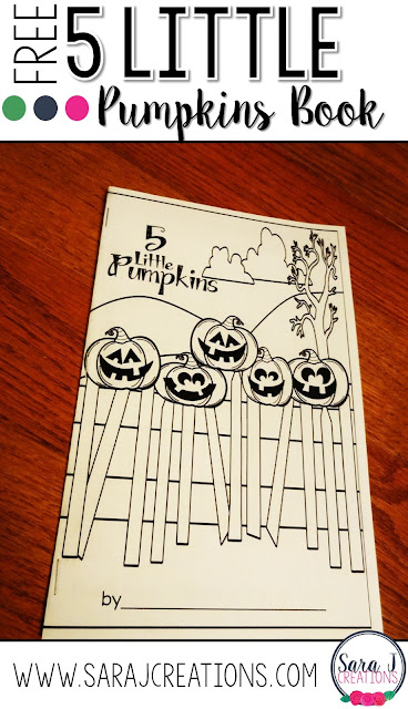 Five Little Pumpkins mini book freebie is a perfect printable for kids to use around Halloween.