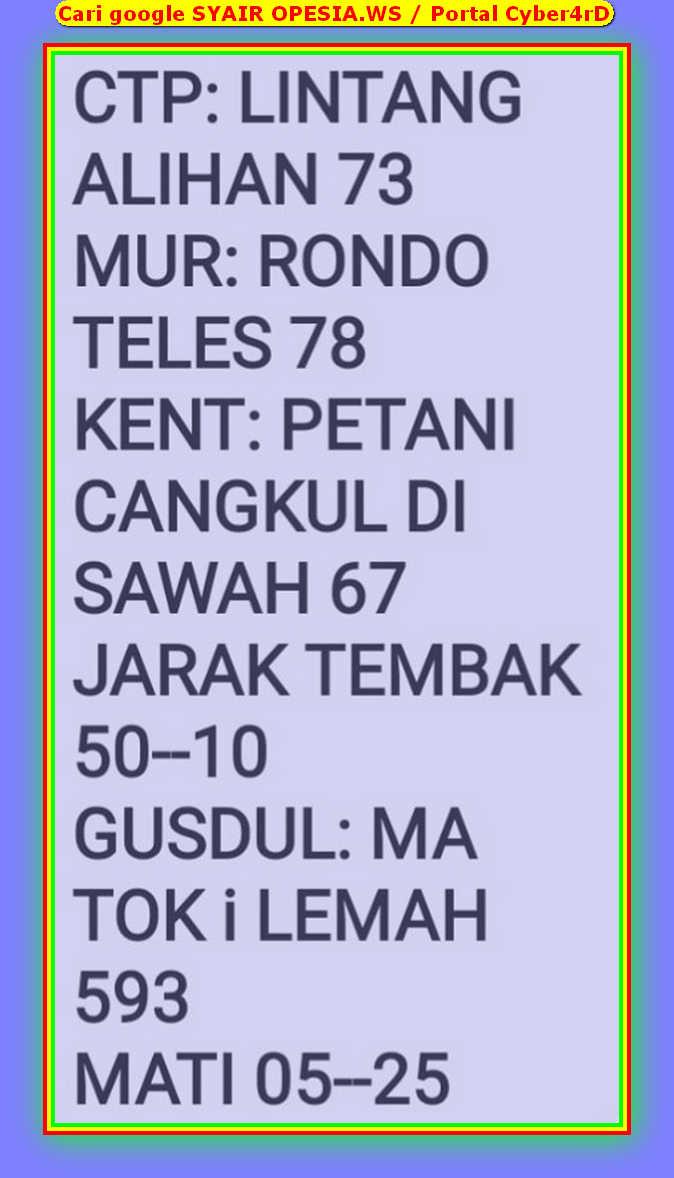 Kode syair Singapore Rabu 15 Januari 2020 34