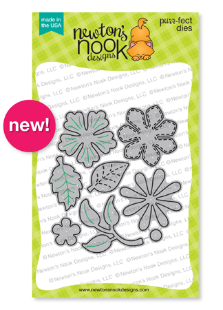 Flower Trio | Flowers Die Set by Newton's Nook Designs #newtonsnook