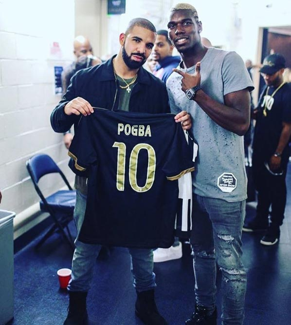 Drake recieves Pogba jersey after OVO Fest performance