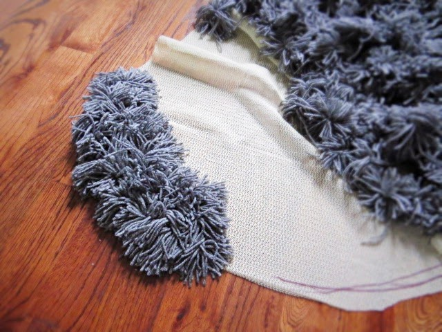 diy yarn rug non-slip mat carpet