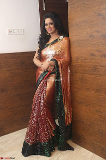 Udaya Bhanu lookssizzling in a Saree Choli at Gautam Nanda music launchi ~ Exclusive Celebrities Galleries 113.JPG