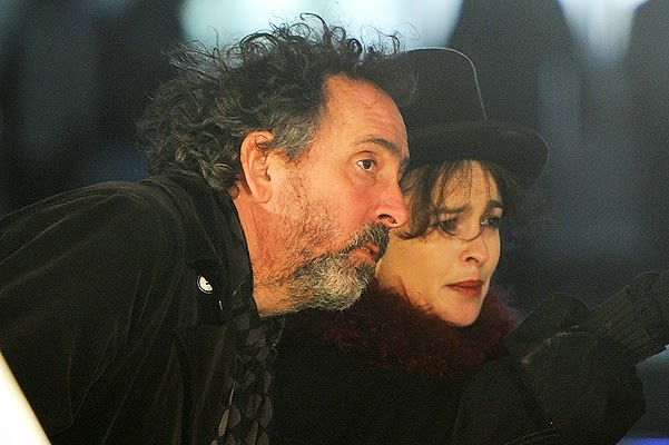 Helena Bonham Carter and Tim Burton went in the winter park