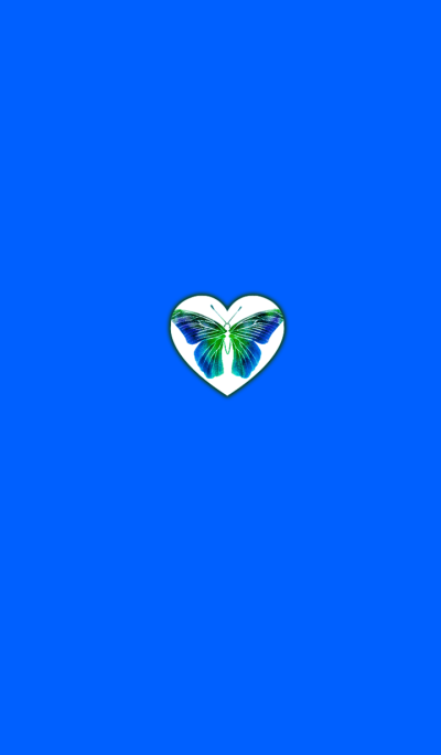 Butterfly Blue Heart