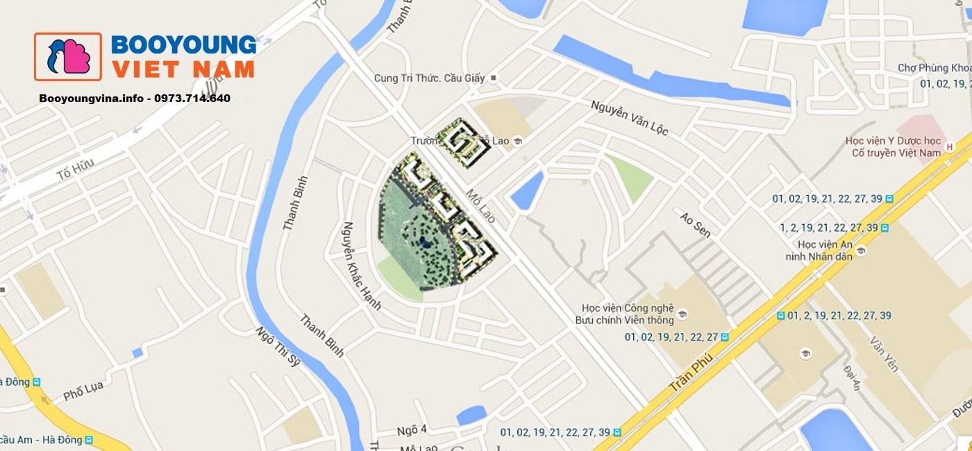 Điểm cộng cho vị trí độc tôn tại Chung cư Booyoung Vina