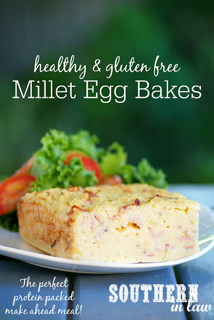 Healthy Millet Egg Bakes Recipe - healthy make ahead meal prep recipes, freezer friendly, gluten free, low fat, high protein, clean eating