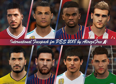 PES 2018 International Facepack by Alireza Free