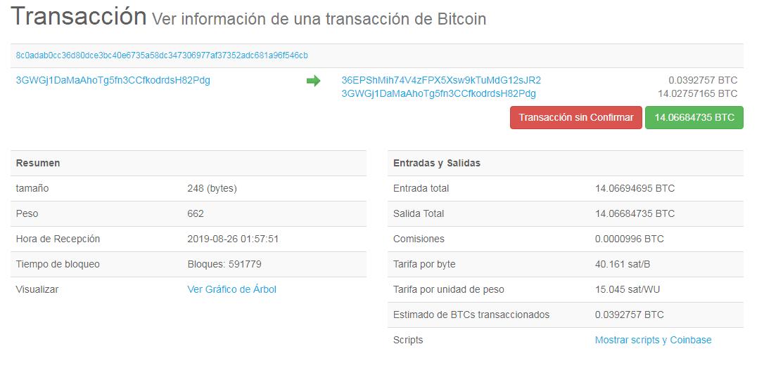 transaccion blockchain