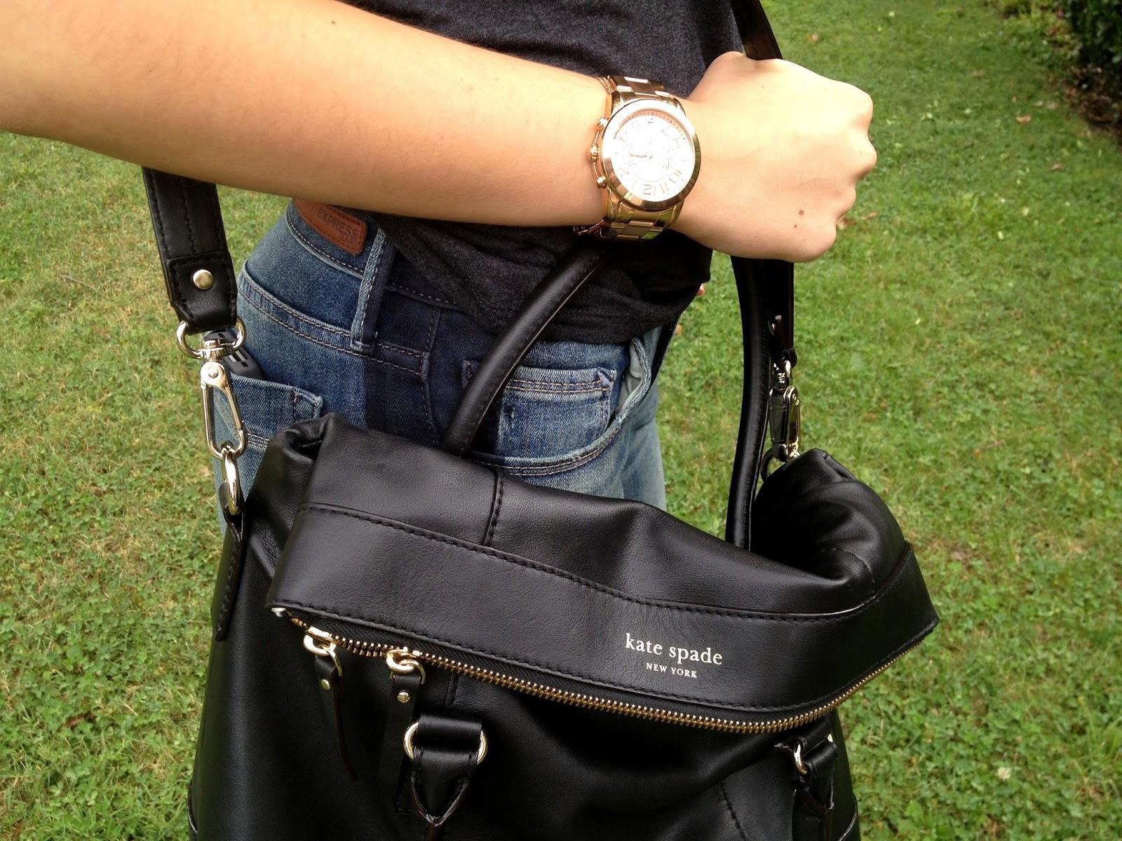 Oksana S Outfit T By Alexander Via Nordstrom Rack Express Jeans Kate Spade Handbag Sam Edelman Loafers