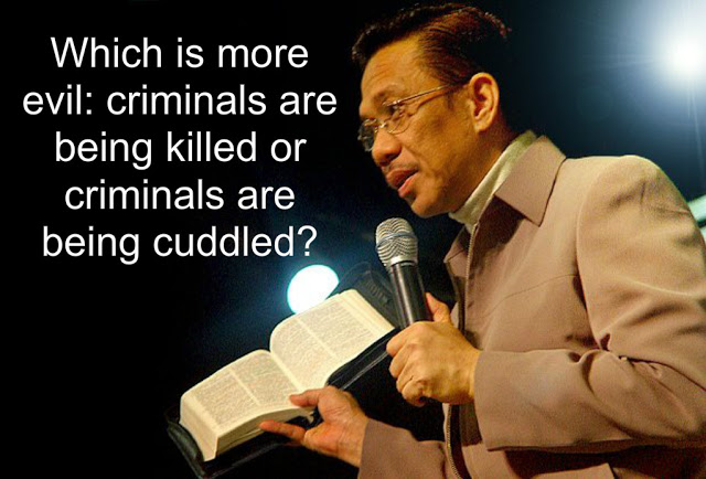 Bro. Eli Soriano Claims Extra-Judicial Killings Being Used By Critics To Oust Duterte 'Which Is More Evil: Criminals Being Killed Or Criminals Being Cuddled?'