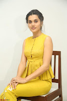 Taapsee Pannu looks mesmerizing in Yellow for her Telugu Movie Anando hma motion poster launch ~  Exclusive 027.JPG